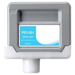 Compatible inkjet cartridge for Canon PFI-301PC - photo cyan
