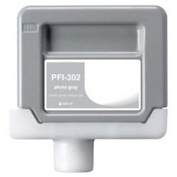 Compatible inkjet cartridge for Canon PFI-302PGY - photo gray