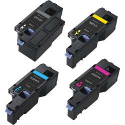 Compatible Dell 593-BBJX / 593-BBJU / 593-BBJV / 593-BBJW toner cartridges - 4-pack