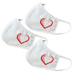Heart / Love V2 Themed Face Masks (3 Pack)