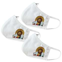 Jesus with Lamb Themed Face Masks (3 Pack)
