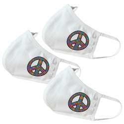 Peace / Flower Themed Face Masks (3 Pack)