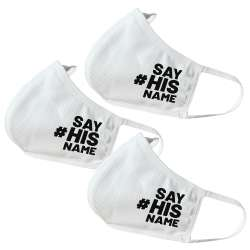 Say His Name Themed Face Masks (3 Pack)