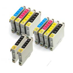 Remanufactured inkjet cartridges Multipack for Epson T044 - 10 pack