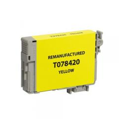 Remanufactured Epson T078420 (78) inkjet cartridge - yellow