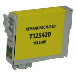 Remanufactured Epson T125420 (125) inkjet cartridge - pigmented yellow