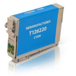 Remanufactured Epson T126220 (126) inkjet cartridge - high capacity pigmented cyan
