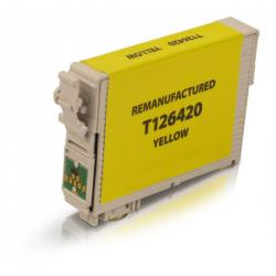 Remanufactured Epson T126420 (126) inkjet cartridge - high capacity pigmented yellow