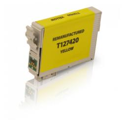 Remanufactured Epson T127420 (127) inkjet cartridge - extra high capacity pigmented yellow
