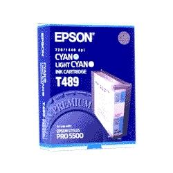 Original Epson T489011 inkjet cartridge - cyan/light cyan