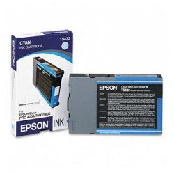 Original Epson T543200 inkjet cartridge - cyan