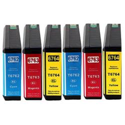 Remanufactured inkjet cartridges Multipack for Epson 676XL - 6 pack