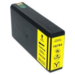 Remanufactured Epson T676XL420 (676XL) inkjet cartridge - high capacity pigmented yellow