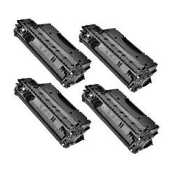 Remanufactured/Compatible HP CE505X (05X) toner cartridges - 4-pack
