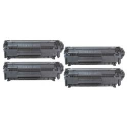 Remanufactured/Compatible HP Q2612X (12X) toner cartridges - 4-pack