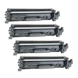 Remanufactured/Compatible HP CF217A (17A) toner cartridges - 4-pack