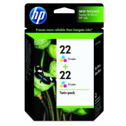 Original HP CC580FN (HP 22) Multipack - 2 pack
