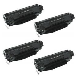 Remanufactured/Compatible HP CB436A (36A) toner cartridges - 4-pack
