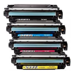 Remanufactured/Compatible HP 504A toner cartridges - 4-pack