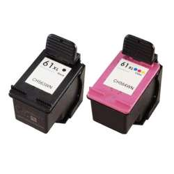 Remanufactured inkjet cartridges Multipack for HP 61XL - 2 pack