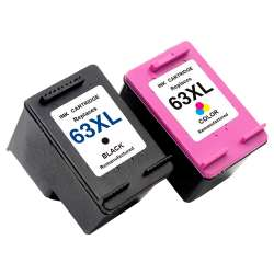 Remanufactured inkjet cartridges Multipack for HP 63XL - 2 pack