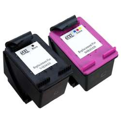 Remanufactured inkjet cartridges Multipack for HP 65XL - 2 pack