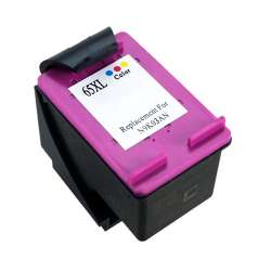 Remanufactured HP N9K03AN (HP 65XL) inkjet cartridge - high capacity color