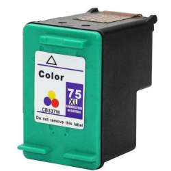 Remanufactured HP CB338WN (HP 75XL) inkjet cartridge - high capacity color