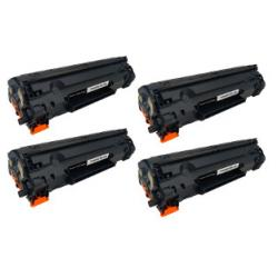 Remanufactured/Compatible HP CE278A (78A) toner cartridges - 4-pack