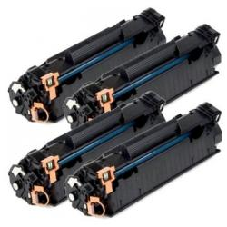 Remanufactured/Compatible HP CE285A (85A) toner cartridges - 4-pack