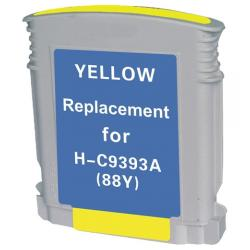 Remanufactured HP C9393AN (HP 88XL) inkjet cartridge - high capacity yellow