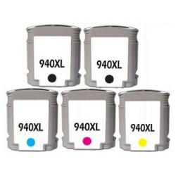 Remanufactured inkjet cartridges Multipack for HP 940XL - 5 pack