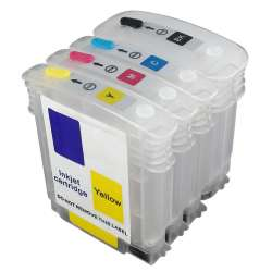 Continuous Ink Cartridge (CIC) Set for HP 940XL (Bk/CMY) - Empty Refillables With Auto reset Chips - 4 pack