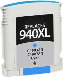 Remanufactured HP C4907AN (HP 940XL) inkjet cartridge - high capacity cyan
