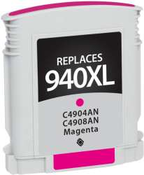 Remanufactured HP C4908AN (940XL) inkjet cartridge - high capacity magenta