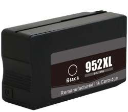 Remanufactured HP F6U19AN (HP 952XL) inkjet cartridge - high capacity black