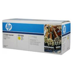 Original HP CE742A (307A) toner cartridge - yellow