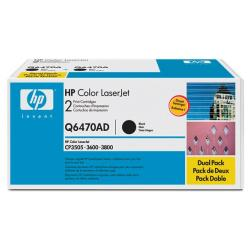 Original HP Q6470AD toner cartridges - 2-pack
