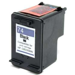 Remanufactured HP CB335WN (HP 74) inkjet cartridge - black