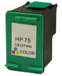 Remanufactured HP CB337WN (HP 75) inkjet cartridge - color