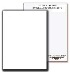 Inkedibles Original Frosting Sheets 20 sheets - A4 size (8.3in x 11.7in)