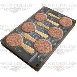 300 x Edible Universal Medicinal THC Label (Edible Image Transfer) for use with 11 inch x 7 inch magnetic molds (InkEdibles mold design 530-017-01)