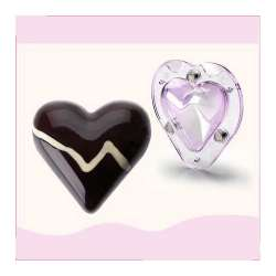 3D HEART CHOCOLATE / CANDY MOLD (4.7 x 4.5 x 2 INCHES)