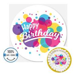Custom Printed Cake Toppers - 8 inch circle