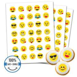 Custom Printed Cookie Toppers & Cupcake Toppers - 48 circles, 1.25 inch