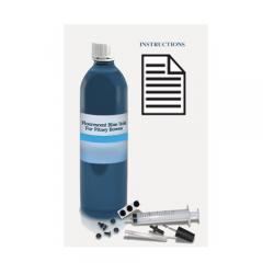 Uni-Kit Inkjet Refill Kit - Postal Blue Fluorescent Ink for Pitney Bowes DM300 / DM400 / DM500
