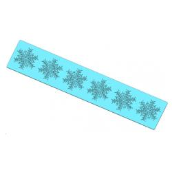 Silicone Lace Strip - Snowflakes