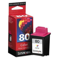 Original Lexmark 12A1980 (#80) inkjet cartridge - color