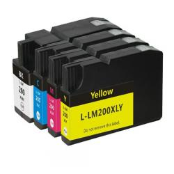 Remanufactured inkjet cartridges Multipack for Lexmark #200XL - 4 pack