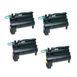 Remanufactured Lexmark X792 toner cartridges - extra high yield - 4-pack